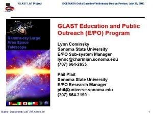 GLAST LAT Project Gammaray Large Area Space Telescope