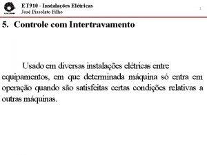 ET 910 Instalaes Eltricas Jos Pissolato Filho 1