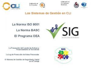Certificacin de CLI Proyectos Certificacin de CLI Gestiones