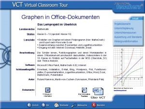 Graphen in OfficeDokumenten Das Lernprojekt im berblick Lernbereiche