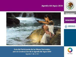 Agenda del Agua 2030 Gua del Participante de
