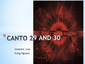 9 AND 30 Clement Jose Hung Nguyen Thing