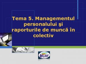 Tema 5 Managementul personalului i raporturile de munc