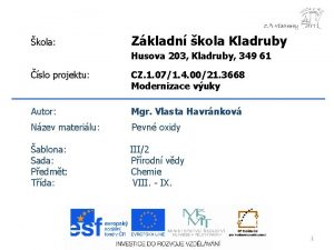 kola Zkladn kola Kladruby Husova 203 Kladruby 349