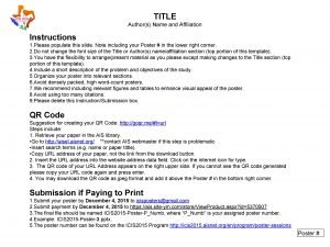 TITLE Authors Name and Affiliation Instructions 1 Please