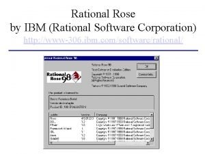 Rational Rose by IBM Rational Software Corporation http