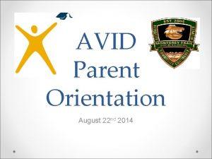 AVID Parent Orientation August 22 nd 2014 Agenda