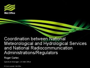 Coordination between National Meteorological and Hydrological Services and