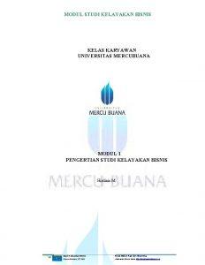 MODUL STUDI KELAYAKAN BISNIS KELAS KARYAWAN UNIVERSITAS MERCUBUANA