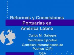 Reformas y Concesiones Portuarias en Amrica Latina Carlos