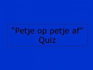 Petje op petje af Quiz Spelregels Iedereen heeft