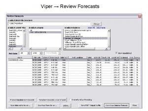 Viper Review Forecasts Viper Reports FMT Report USDA