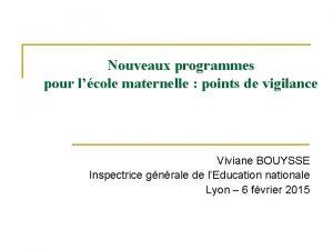 Nouveaux programmes pour lcole maternelle points de vigilance