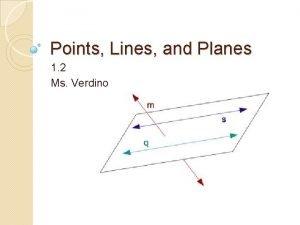 Points Lines and Planes 1 2 Ms Verdino