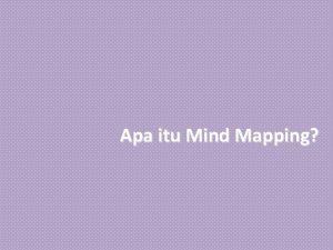 Apa itu Mind Mapping Pengertian Apa itu Mind