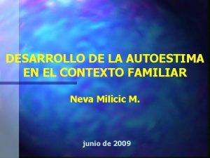 DESARROLLO DE LA AUTOESTIMA EN EL CONTEXTO FAMILIAR