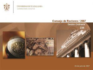 Consejo de Rectores 2007 Sesin Ordinaria 234 26