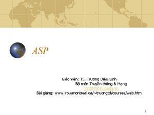ASP Gio vin TS Trng Diu Linh B