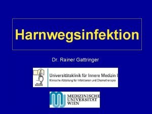 Harnwegsinfektion Dr Rainer Gattringer Harnwegsinfektion HWI Sehr hufige