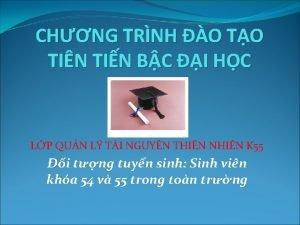 CHNG TRNH O TO TIN TIN BC I