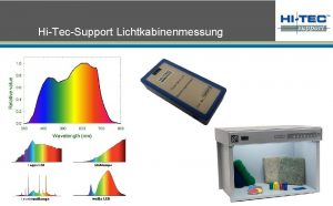 HiTecSupport Lichtkabinenmessung Das Spektrum das uns in der