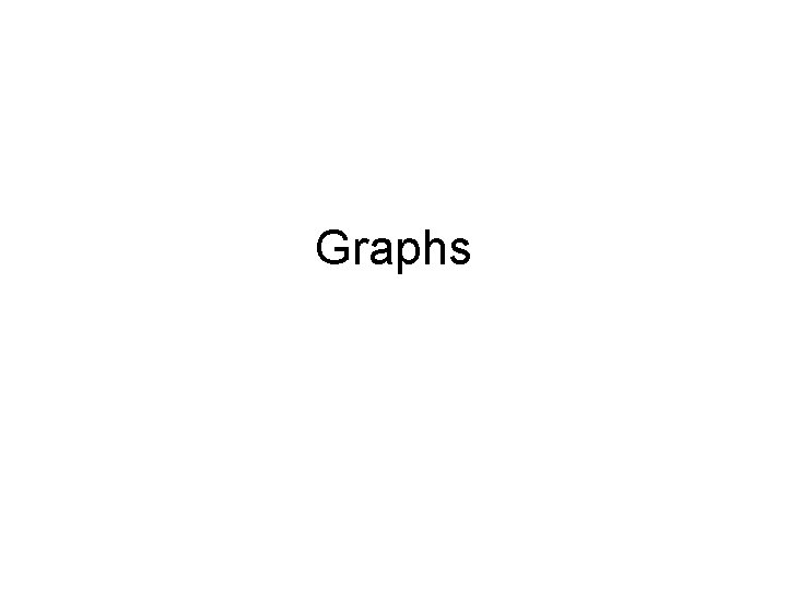 Graphs Graphs Applications of DepthFirst Search Undirected graphs