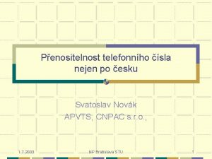 Penositelnost telefonnho sla nejen po esku Svatoslav Novk
