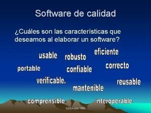 Software de calidad Cules son las caractersticas que