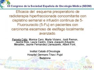XII Congreso de la Sociedad Espaola de Oncologa