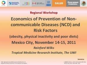 Regional Workshop Economics of Prevention of Noncommunicable Diseases