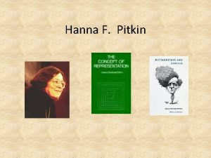 Hanna F Pitkin Hanna F Pitkin OBLIGATION AND