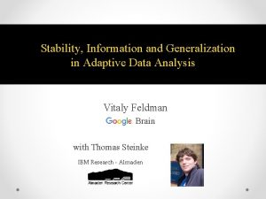 Stability Information and Generalization in Adaptive Data Analysis