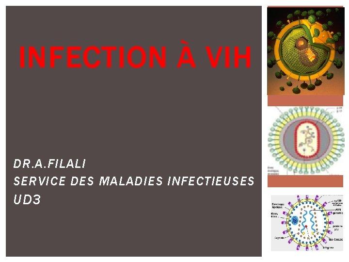 INFECTION VIH DR A FILALI SERVICE DES MALADIES