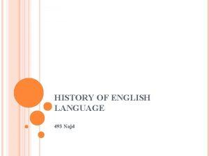 HISTORY OF ENGLISH LANGUAGE 493 Najd HISTORY OF