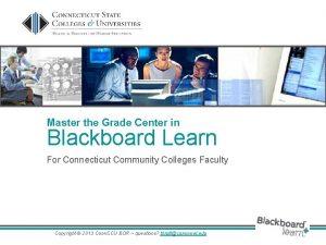 Master the Grade Center in Blackboard Learn For