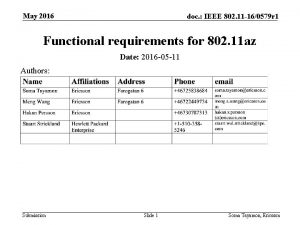 May 2016 doc IEEE 802 11 160579 r