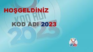 HOGELDNZ KOD ADI 2023 ARDUINO KOD ADI 2023