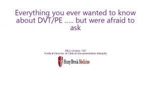 Everything you ever wanted to know about DVTPE