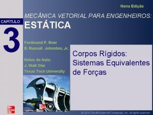 Nona Edio MEC NICA VETORIAL PARA ENGENHEIROS CAPTULO