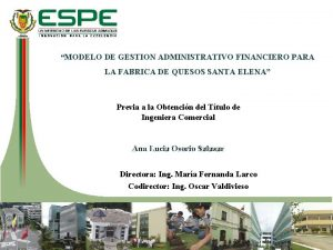 MODELO DE GESTION ADMINISTRATIVO FINANCIERO PARA LA FABRICA