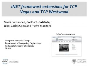 INET framework extensions for TCP Vegas and TCP