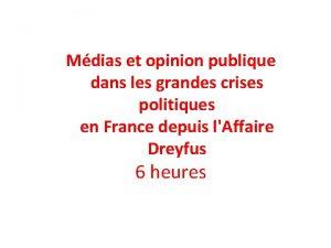 Mdias et opinion publique dans les grandes crises