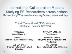 International Collaboration Matters Studying EE Researchers across nations