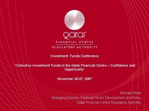 Investment Funds Conference Collective Investment Funds in the