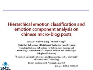 Hierarchical emotion classification and emotion component analysis on