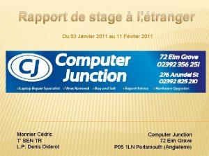Rapport de stage ltranger Du 03 Janvier 2011
