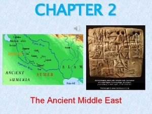 CHAPTER 2 The Ancient Middle East FERTILE CRESCENT