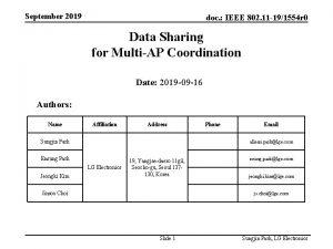 September 2019 doc IEEE 802 11 191554 r