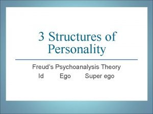 3 Structures of Personality Freuds Psychoanalysis Theory Id