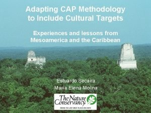 Adapting CAP Methodology to Include Cultural Targets Experiences